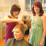 Salon in Virgil celebrates one year anniversary of recycling program